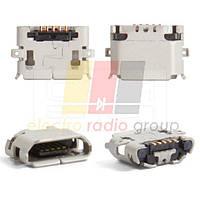 Коннектор зарядки для LG E730 Optimus Sol, Sony Ericsson U5, X10, X8, 5 pin, micro USB тип-B
