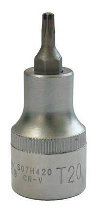 """Торцевая головка 1/2""""DR с вставкой Torx T-25, L-58 мм JONNESWAY (S07H425), фото 2"""