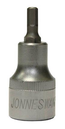 """Торцевая головка 1/2""""DR с шестигранной вставкой Hex 6 мм, L-55 мм JONNESWAY (S50H4106), фото 2"""
