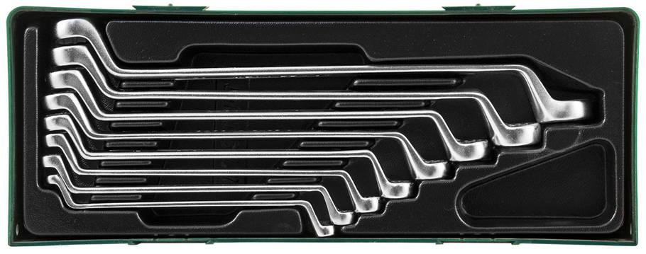 Набор ключей накидных 75-гр., 6-22 мм, 8 предметов (ложемент) JONNESWAY (W23108ST), фото 2