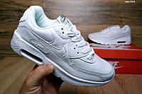 Женские кроссовки Nike Air Max 90, материал - кожа, белые