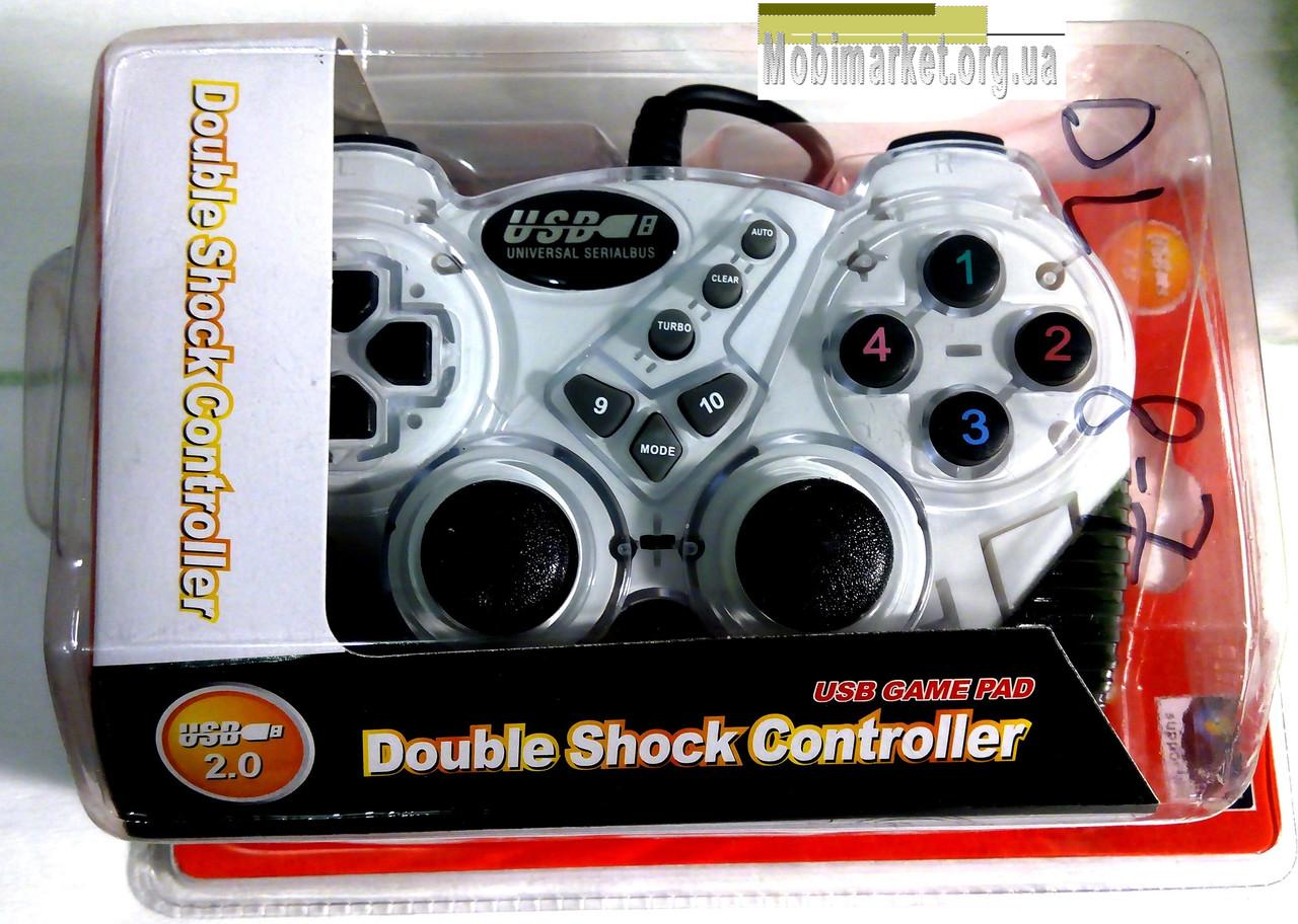 Джойстик Double Shock Controller USB-906 білий