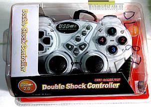 Джойстик Double Shock Controller USB-906 білий, фото 2