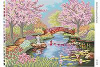 """Схема для вышивки бисером """"Японский сад""""   размер: 42*30 см"""