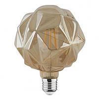 Филаментная led лампа Horoz Electric 6W RUSTIC CRYSTAL-6