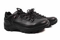 Туфли спорт мужские Wojas натуральная кожа, цвет черный (платформа, комфорт, Польша)