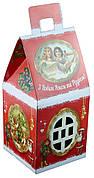 Новогодний подарок из конфет Домик Ретро с дополненной реальностью, вес 350г