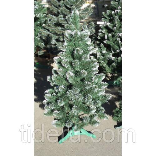 """Искусственная ель """"Лидия"""" h=1,5 м зеленая с белыми кончиками с ПВХ"""