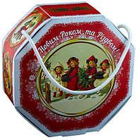 Сладкий новогодний подарок из конфет Люкс Ретро, вес 490 гр