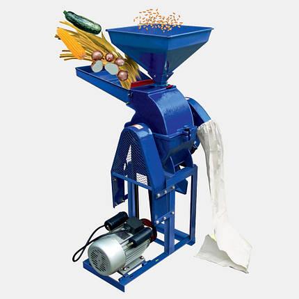 Кормоизмельчитель ДТЗ КР-20С(зерно + початки кукурузы + овощи + фрукты + стебли, 600 кг/ч) 3кВт, фото 2