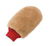 1080 Рукавица для мойки с супер мягкой овчины, коричневая