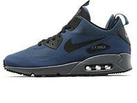 Зимние мужские кроссовки Nike Air Max 90 Mid Winter Blue