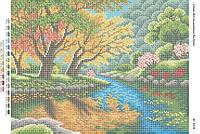 """Схема для вышивки бисером """"У реки""""   размер: 42*30 см"""