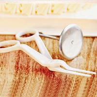 Кондитерский набор:гвоздь и ножницы для создания цветов из крема.