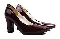 Туфли женские Zan Zara эко-лак, цвет бордо (каблук, Польша)