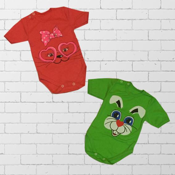 Детские боди с коротким рукавом для новорожденных
