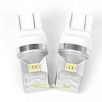 Диодные led лампы автомобильные белого света на габариты Carlamp 10G W21/5W CSP 10G/7443