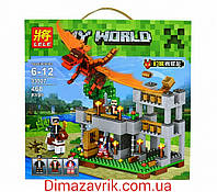 "Конструктор Lele Minecraft 33027 ""Красный дракон"" (аналог Lego Майнкрафт, Minecraft) 468 деталей, фото 1"