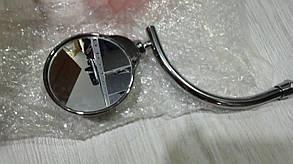Металлические мото зеркала с черепом хром, фото 2
