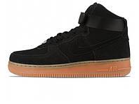 Зимние мужские кроссовки Nike Air Force 1 High Suede Black