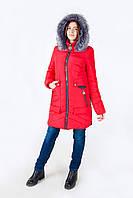 Зимняя куртка модель 17-52, красный (42-52) 3 цвета