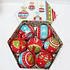 """Шары новогодние в подарочной коробке глянцевые """"Праздничные"""" 7 шт. 75 мм"""