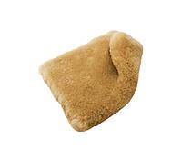 1083  Квадрат для мойки со стриженной овчины, коричневый