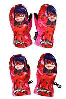 Перчатки болоневые для девочек оптом, Disney, 3-6 лет., Арт. 800-503