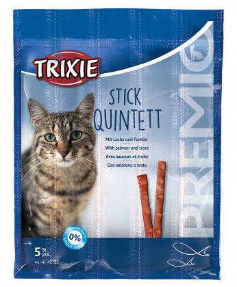 Trixie Premio Stick Quintett with SALMON & TROUT 5шт*5г - палочки для кошек (лосось+форель)