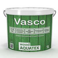 Пропитка для древесины лессирующая Vasco Wood AQUATEX белая 2,7 л