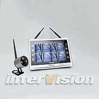 """Комплект беспроводного видеонаблюдения: видеорегистратор с 12"""" монитором и 1 видеокамеру KIT-FHD121"""
