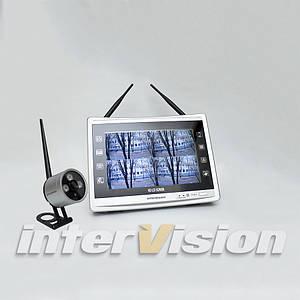 """KIT-FHD121 Комплект беспроводного видеонаблюдения: видеорегистратор с 12"""" монитором и 1 видеокамеру"""