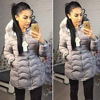 Женская теплая курточка на холлофайбере