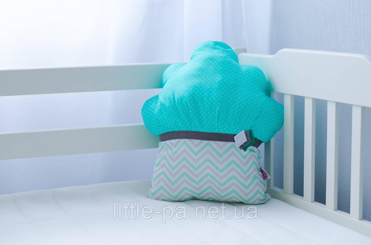 """Детская хлопковая подушка """"Маффин кокосовый"""""""