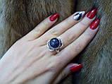Аметист круглое кольцо с аметистом кольцо с камнем аметист в серебре 18,5-19 размер Индия, фото 5
