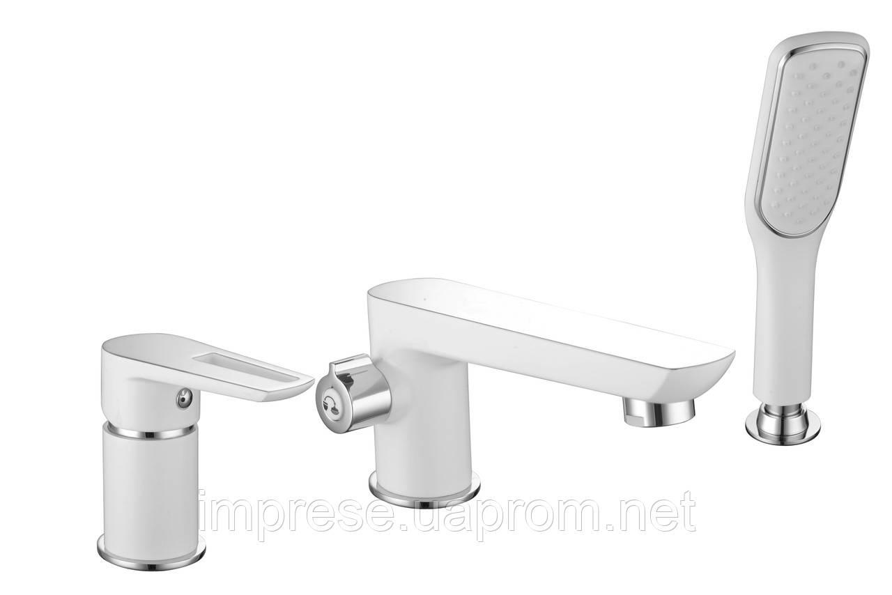 Смеситель для ванны врезной на три отверстия Breclav 85245W