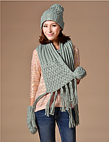 Зимний комплект шапка,шарф, рукавички