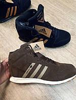 Мужские зимние кроссовки на меху Adidas