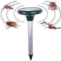 Ультразвуковой садовый отпугиватель грызунов, мышей, кротов с солнечной батареей «Антикрот»