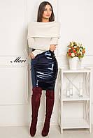 Тренд сезона! Женская кофта с воротником хомут (ангора, длинный рукав, открытые плечи) РАЗНЫЕ ЦВЕТА!