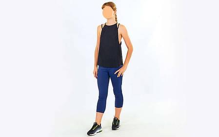 Майка для фітнесу і йоги VSX V008-BK, фото 2