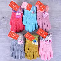 Детские перчатки Gloves. 4-6 лет. Разные цвета. Купить оптом