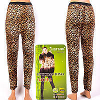 Женские гамаши леопард на меху Натали ЛА995-7. Размер 48-52