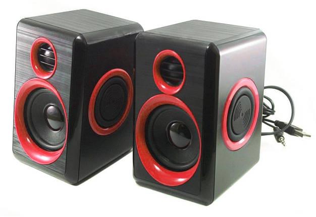 Колонки для ПК компьютера F&T FT-165 Black Red, фото 2