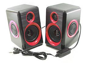 Колонки для ПК компьютера F&T FT-165 Black Red, фото 3