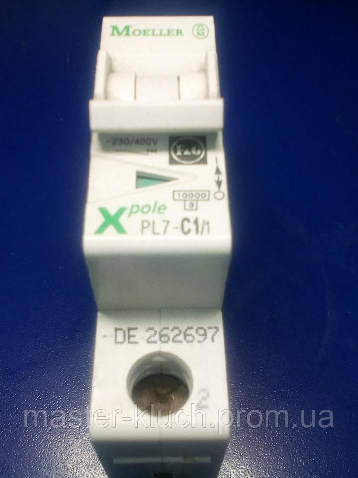 Автоматический выключатель Eaton PL-7 1P C1A