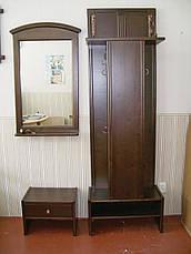 Зеркало настенное в деревянной рамке  с полочкой (цвет на выбор), фото 3