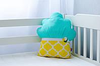 """Подушка из хлопка для кроватки новорожденного """"Маффин лимонный"""""""