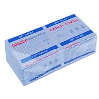 PRO service Optimum полотенца бумажные в листах V-сложение, синий