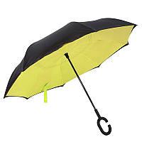 Ветрозащитный зонт обратного сложения д110см 8сп WHW17133 Yellow